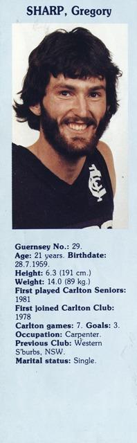 1981 - Greg Sharp.