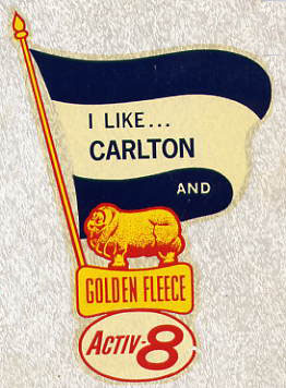 A Carlton sticker from the 1960's