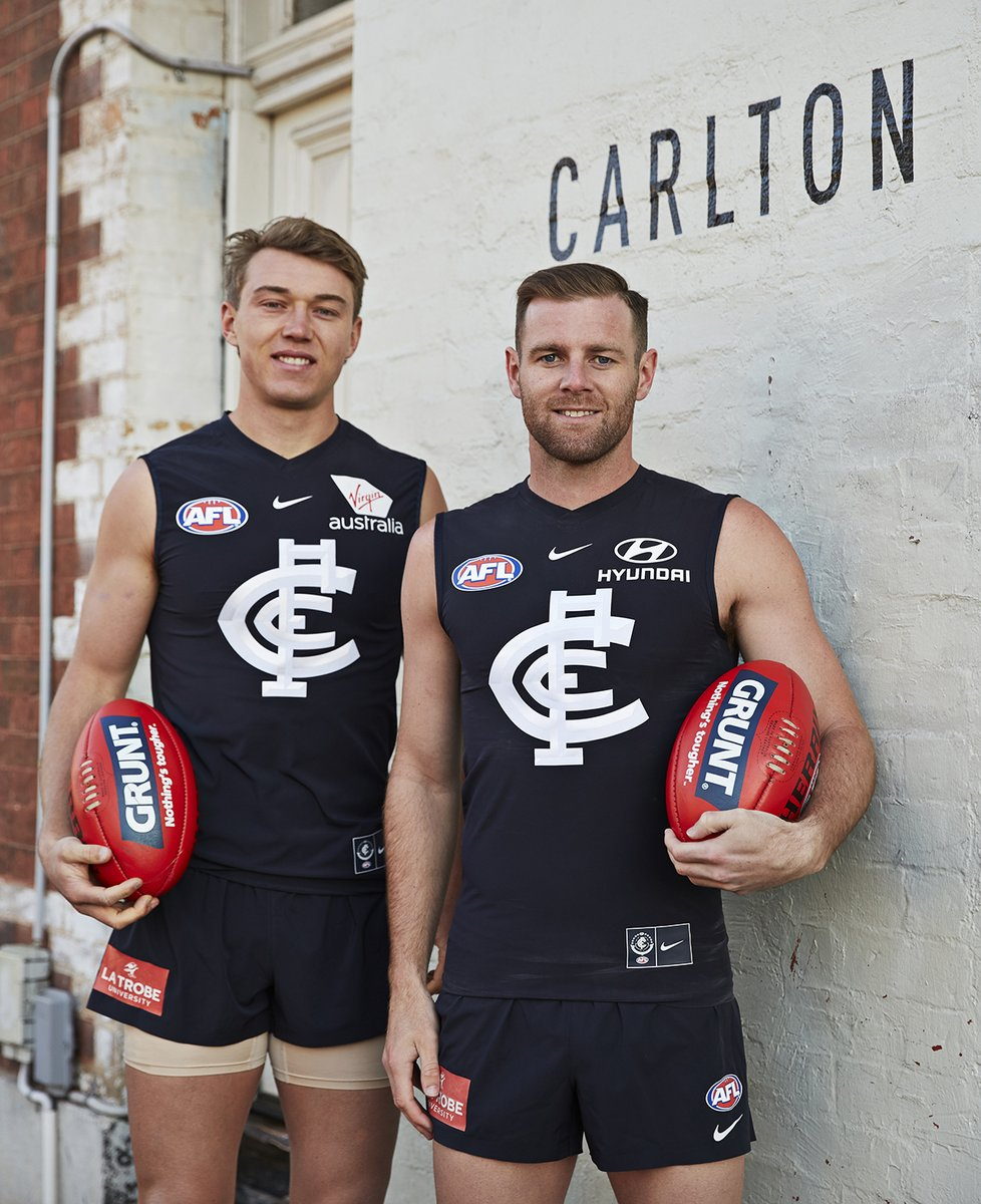 2019 - Co-Captains Cripps & Docherty.