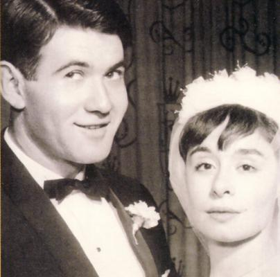 Jeanne and Richard on their wedding day - 9th June 1959.