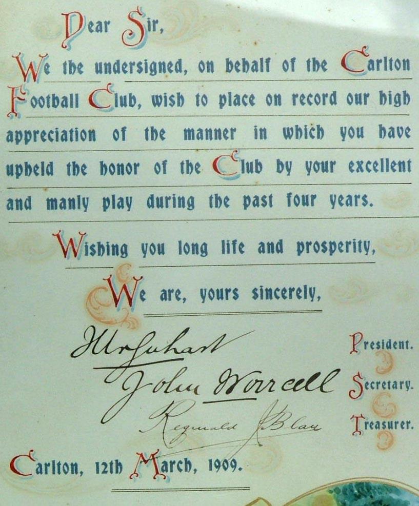 Certificate of Appreciation Close-up
