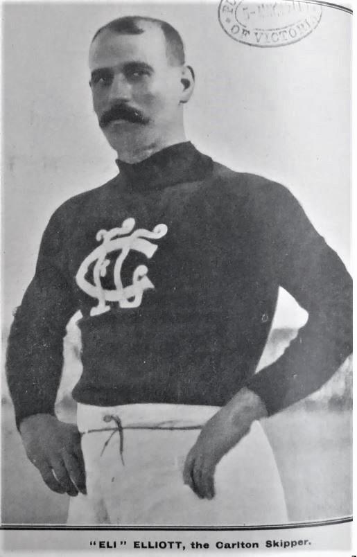 1911 Rnd 1 v Essendon Fred Elliott SLV: Illustrated Sporting and Dramatic News (Melb) May 04